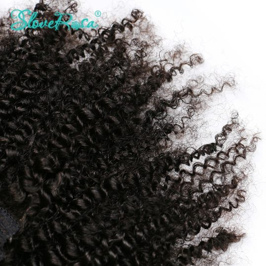 Slove Rosa Product Afro Kinky Curly Clip In Human Hair Extensions 100% Mongolian Remy Hair 8 Pieces And 120g/Set Natural Color