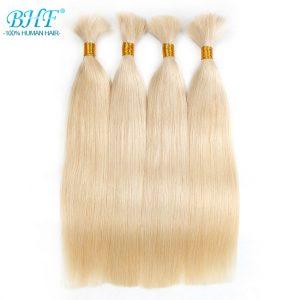 BHF Human Braiding Hair Bulk Straight European Human Hair Bulk Blond Bulk 100% Human Hair