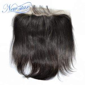 "New Star Brazilian Virgin Straight Hair 10""-20""Inches Lace Frontal 13x6 100% Human Hair Natural Hairline With Baby Hair"