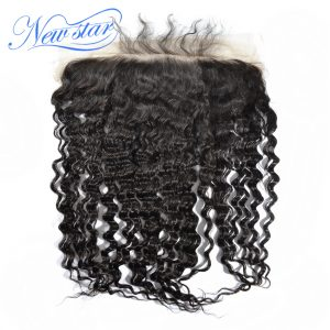 New Star Hair Lace Frontal 13x6 Deep Wave Brazilian Virgin Human Hair Ear To Ear Bleached knots Pre Plucked With Baby Hair