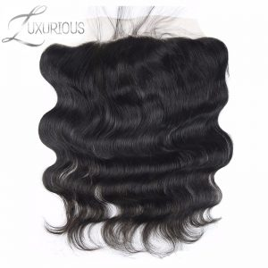 Luxurious Brazilian Virgin Hair Body Wave 13X4 Ear to Ear Lace Frontal Closure Free Part With Natural Hairline Free Shipping