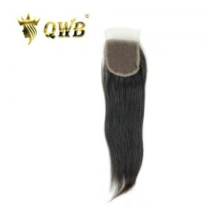 QWB Straight Free shipping 12''/14''/16'' Brazilian Virgin Hair Nature Color Lace Closure