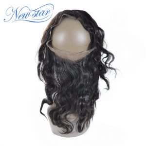 New Star Hair Pre Plucked 360 Lace Frontal Brazilian Body Wave Virgin Human Hair Free Part With Baby Hair Free Shipping