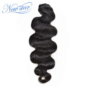 New Star Brazilian Body Wave Clip In Human Hair Extensions 7Pcs/Set Natural Color 120G 100% Virgin Hair Free Shipping