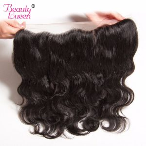 Brazilian Virgin Hair Body Wave 13x4 Ear To Ear Pre Plucked Lace Frontal Closure With Baby Hair 100% Human Hair Beauty Lueen