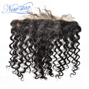 New Star Hair Pre Plucked Lace 13x4 Frontal Free Part Brazilian Deep Wave Virgin Human Hair With Baby Hair Bleached Knots
