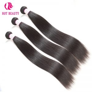 Hot Beauty Hair Brazilian Straight Virgin Hair Weave Bundles 10-28 inch Natural Color 100% Human Hair Extensions Free Shipping