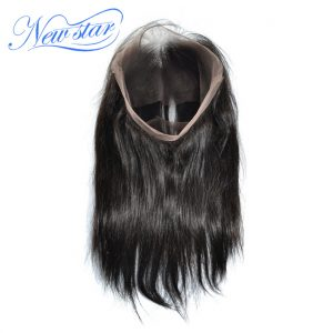 New Star 360 Lace Frontal Closures Brazilian Straight Virgin Human Hair Pre Plucked Hairline 10''-20''inch For Black Women