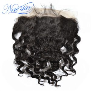 New Star Virgin Hair Brazilian Loose Deep 13x6 Lace Frontal 100% Human Hair Bleached Knots Pre Plucked With Baby Hair