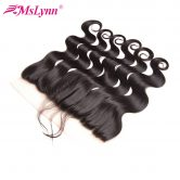 Mslynn Hair 13x4 Pre Plucked lace Frontal With Baby Hair Brazilian Body Wave Closure Free Part Non Remy Human Hair Closure