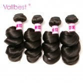 Peruvian Loose Wave Bundles Natural Black Peruvian Hair Weave Human Hair Bundles Extension Vallbest Non Remy Hair 100g/piece