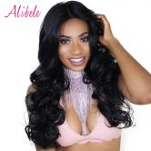 Alibele Peruvian Body Wave 100% Human Hair Weave Bundles 100G/1PC Natural Color Free Shipping Double Weft Non-remy Hair