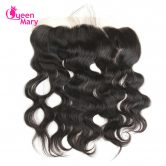 Queen Mary Peruvian Body Wave Closure With Baby Hair Non-Remy Hair 13*4 Lace Frontal Closure 100% Human Hair Shipping Free