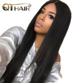 Must Have Peruvian Straight Bundles Human Hair 100% Weave Fast Delivery 8-28 Inch True to Length Natural Black Non Remy QThair