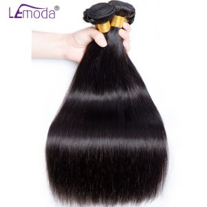 Malaysian Straight Hair Human Hair Bundles LeModa Hair Weave 1pc/lot Natural Color Non-Remy Hair Extensions Free Shipping