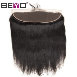Beyo Pre Plucked Lace Frontal Closure With Baby Hair 8-22 Inch Malaysian Straight Hair Ear To Ear Human Hair Closure Non-Remy
