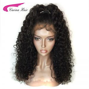 Carina Hair 150% Density Color 1B Malaysian Non-Remy Human Hair Full Lace Wigs with Baby Hair Glueless Short Wigs Pre-Plucked