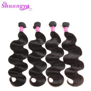 Shuangya Hair Malaysian Body Wave Hair Bundles 100% Human Hair Weave Non Remy Hair Weaving 10-28Inch Natural Color Free Ship