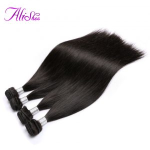 Alishes Malaysian Straight Hair Bundles Natural Color Non Remy Hair Weave 8-28 inch Human Hair Bundles Free Shipping