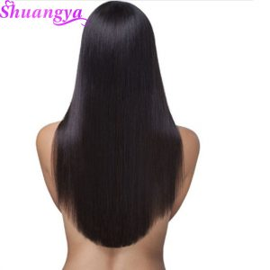 Shuangya Malaysian Straight Hair Weave Bundles 100g/Piece Human Hair extensions Natural Color Non Remy hair 10-28Inch Free ships