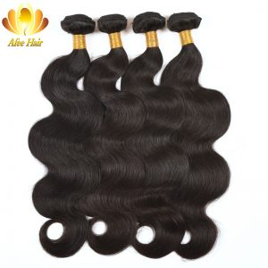 Ali Afee Malaysian Body Wave Human Hair Bundles Natural Black Hair Extension 1Pc Non Remy Can Buy 3 or 4 Bundles With Closure