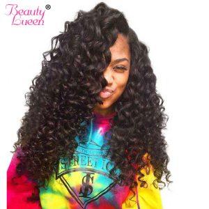 Deep Wave Brazilian Hair  Weave Bundles Human Hair Bundles 8-28 inch Hair Extension Non Remy Hair Weaving Beauty Lueen Free Ship