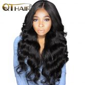 Luster Body Wave Tissage Malaysian Hair Bundles Weave Human Hair No Smell Natural Black Color Non Remy 8-28 Inch QThair