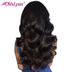 "Mslynn Hair Malaysian Body Wave Bundles 100% Human Hair Bundles 1 Pc Natural Color Can Be Dyed 10""-28"" Non Remy Hair Extensions"