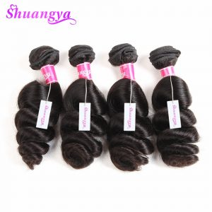 Shuangya hair Malaysian loose wave 1PC Non Remy hair extensions 10-28Inch Natural Color 100% Human hair weave bundles Ship free