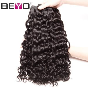 Beyo Malaysian Water Wave 10inch-26inch 100% Human Hair Bundles Double Weft Hair 1PC Natural Color Free Shipping Non-remy Hair