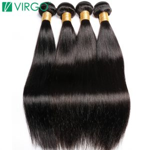 Malaysian Straight Hair 100% Human Hair Weave Bundle 1 Piece Virgo Hair Company Non Remy Hair Extensions Can Buy 3/4 Bundles