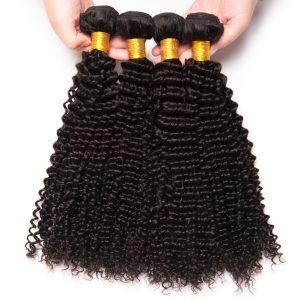 Beyo Kinky Curly Hair 100% Human Hair Bundles Malaysian Hair Weave 1 PC Natural Color Free Shipping Non-Remy Hair Bundles