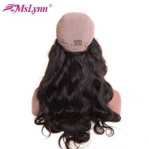 """Mslynn Hair Lace Front Human Hair Wigs For Black Women Malaysian Body Wave Wig With Baby Hair 8""""-24"""" Pre Plucked Non Remy Hair"""