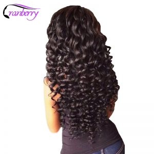 Cranberry Hair Deep Wave Raw Indian Hair Bundles 10-26inches 100g/piece Natural Color Non Remy Human Hair Extensions Can Be Dyed