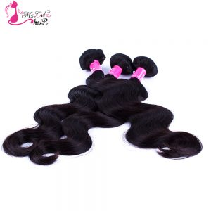 Indian Body Wave Ms Cat Hair Products 1 Bundle Natural Black Non Remy Human Hair Free Shipping