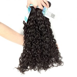 Sweetie Raw Indian Hair Water Wave Extensions 100% Human Hair Weaving non remy 1 Piece  100g Free Shipping
