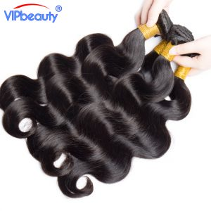 VIP beauty Indian body wave 100% human hair weave bundles 1pcs only non remy hair extension natural color 1b can be permed