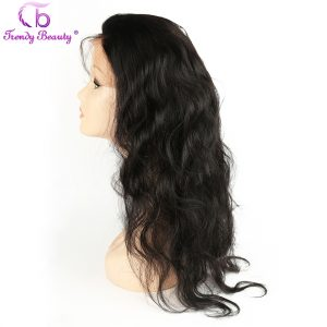 Trendy Beauty 360 Lace Frontal with Baby Hair Indian Body Wave Non- Remy human hair Free Part Natural Black color Free Shipping