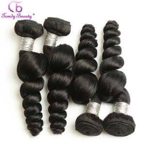 Trendy beauty Hair Product Indian Loose Wave Natural Black Color Human Hair Weaving 1 piece only 8-26 inch Non-Remy Hair