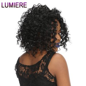 Lumiere Hair Indian Deep Wave Hair Weave Bundles 100% Human Hair Non Remy Hair Extensions Natural Black One Bundle Free Shipping