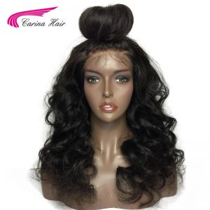 Carina Hair Indian Non-Remy Human Hair Short Glueless Wigs Loose Wave 150% Density Lace Front Wigs With Pre-Plucked Hairline