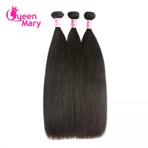 Queen Mary Brazilian Straight Hair 100% Human Hair Bundles One Piece Natural Color Non-Remy Hair Extensions Free Shipping