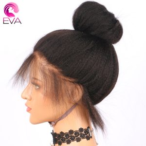 """Eva Hair Lace Front Human Hair Wigs With Baby Hair 12""""-22"""" Kinky Straight Brazilian Remy Hair Wigs Pre Plucked Natural Hairline"""