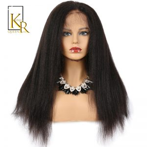 Glueless Full Lace Human Hair Wigs For Black Women Remy Brazilian Kinky Straight Wig Pre Plucked With Baby Hair King Rosa Queen