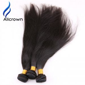 Alicrown Hair Silky Straight 100% Brazilian Remy Hair Weaves Bundles 1 Piece  Natural Color Human Hair Weft 100g Shipping Free