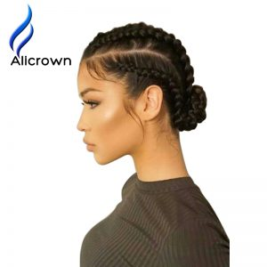 Alicrown Pre-Plucked 4*4 Silk Base Full Lace Human Hair Wigs Bleach Knots Brazilian Remy Hair Wig For Black Women With Baby Hair