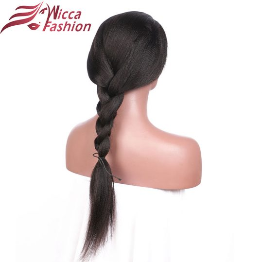 Dream Beauty Yaki Straight Full Lace Wigs Brazilian hair Wigs With Baby Hair 130% Density Non-Remy Hair