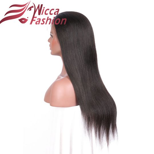 Dream Beauty Front Lace Human Hair Wigs With Baby Hair Glueless Lace Front Wig Brazilian non-remy Hair Yaki Straight Human Hair
