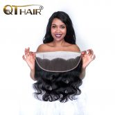 No Odor Brazilian Body Wave Closure Free Part 13X4 Ear to Ear Lace Frontal with Baby Hair Fast Delivery Remy QThair