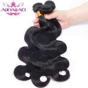 Aliballad Peruvian Body Wave Non-Remy Hair Bundle Natural Color 8-28 Inch 100% Human Hair Weaving